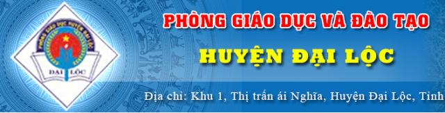 Phòng Giáo Dục Đào Tạo Huyện Đại Lộc
