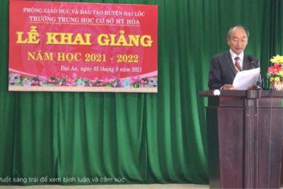 LỄ KHAI GIẢNG NĂM HỌC 2021-2022 TRƯỜNG THCS MỸ HÒA